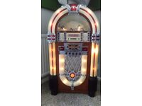 Floorstanding Wood Cabinet Jukebox CD, radio and Cassette Recorder. Very special christmas Present