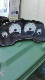 Vauxhall astra white clocks
