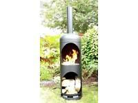 Large gas bottle log burner/chimnea/firepit