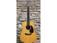 Martin HD28 Custom. Warm, full bodied sound. Adirondack top. Excellent amplification.