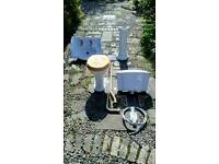 Toilet and bathroom sink. Victorian high cistern style £50 ono