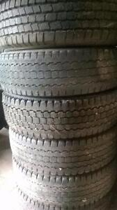 Four Bridgestone Blizack LT225 75 16 winter tires