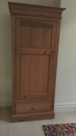 Solid pine wood wardrobe