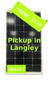 100W MONO-CRYSTAL SOLAR PANEL - $119 - Pickup in Langley