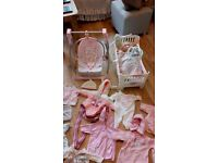 Baby annabell, doll, cot, swing, highchair, clothes