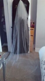 Wedding Veil with long train, and comb