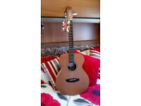 Tanglwood acoustic folk guitar with padded case ( new )