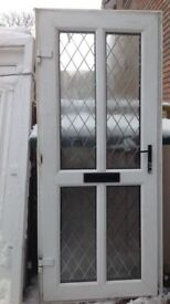 PVC doors , white and wood brown standard size