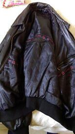 Leather bomber jacket by AviaTrix Unused , Unworn , Size XL BARGAIN !