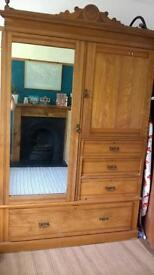 Large wooden wardrobe/storage cupboard