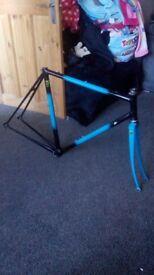 """21.5"""" Reynolds 531c road bike frame forks"""