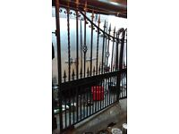 Set of raw iron driveway gates for sale