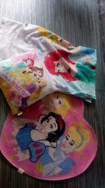 Disney Princess bundle single duvet rug cushion fleece