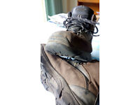 Walking/gardening boots, waterproof.