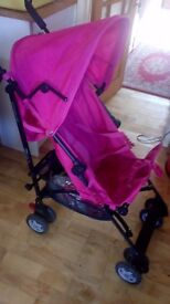 Lovely pink Mothercare pushchair. Little used, less than 1 year old