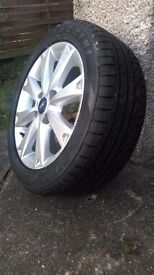 Ford fiesta zetec alloy wheel and brand new tyre