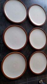 6 Dinner Plates & 4 Bowls by Famous Irish Ceramicist Stephen Pearce. Shanagarry Irish Studio Pottery