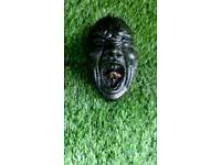 Concrete scream face plaque
