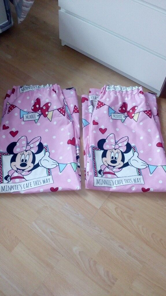 Minnie Mouse Lined Curtains