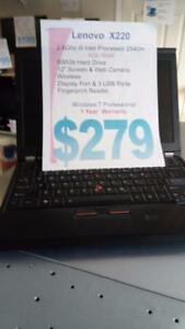 "Lenovo X220 - i5 Intel - 4Gb - 500Gb Hard Drive - 12"" Screen - 1 Year Warranty"