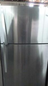 100-  NEUF - NEW    Réfrigérateur Frigo WHIRLPOOL STAINLESS  33'' Refrigerator Fridge