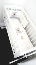 Mothercare OBaby Sophie Swinging Crib and Mattress