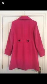 Ladies Double Breasted Wool Blend Coat