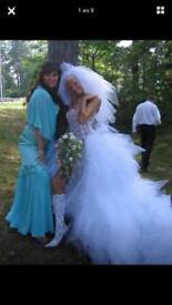 Evening prom dress with around 1,500 Swarovski stones