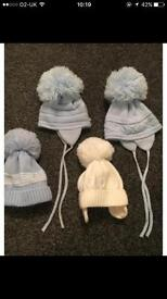 Baby boys hats 0-3 months