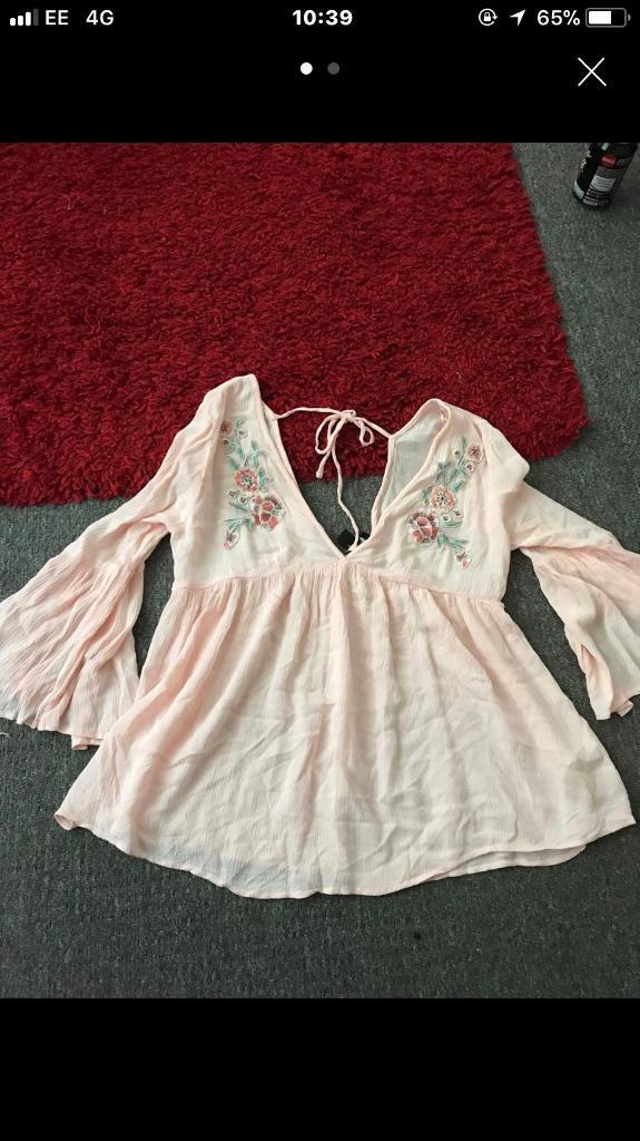 Brand new embroidered top size 8