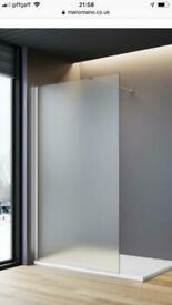 Frosted 1200mm shower screen