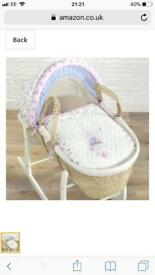 Love kiss Moses basket and stand