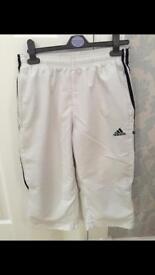 Adidas 3/4 length shorts (size 30)