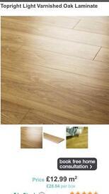 LAMINATE light varnished oak plank