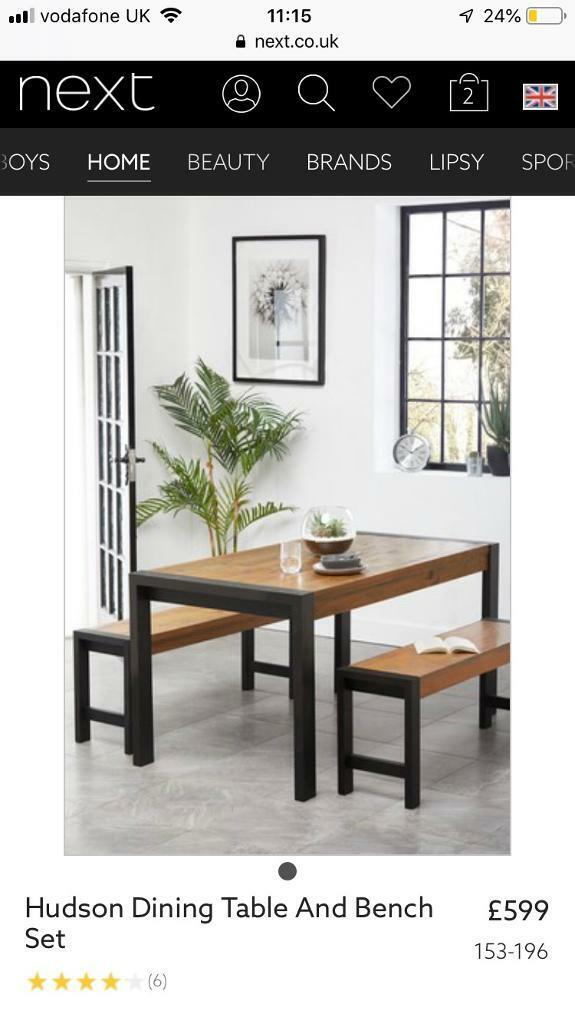 Next Dining Room Table And Benches