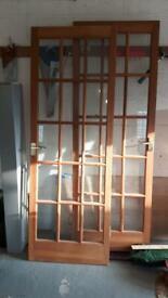 2 hardwood doors