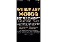 We buy Any scrap cars Any quote beaten 100 min