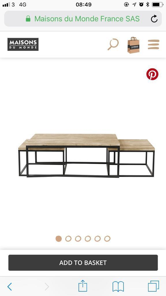 Maison du monde nest coffee table Long Island | in Greenwich, London |  Gumtree