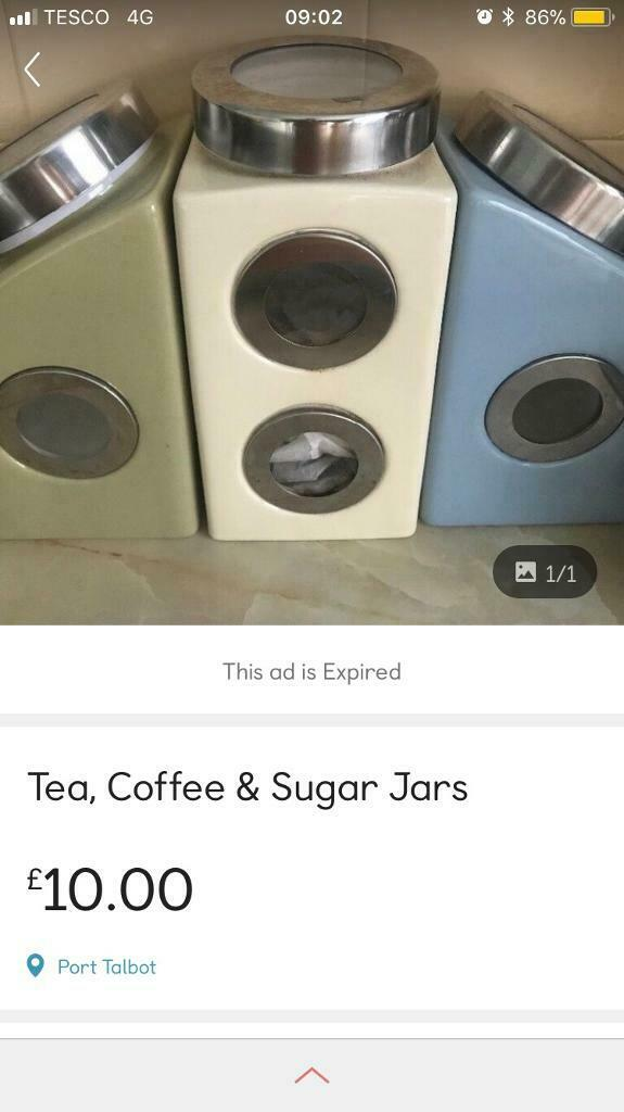 Teacoffeesugar Containers In Port Talbot Neath Port Talbot Gumtree
