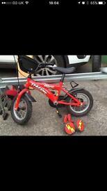 Red starter bike