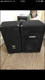 """Prosound 10"""" speakers"""