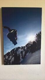 Snowboarding Picture. 60cm x 40cm