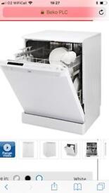 White Beko dishwasher
