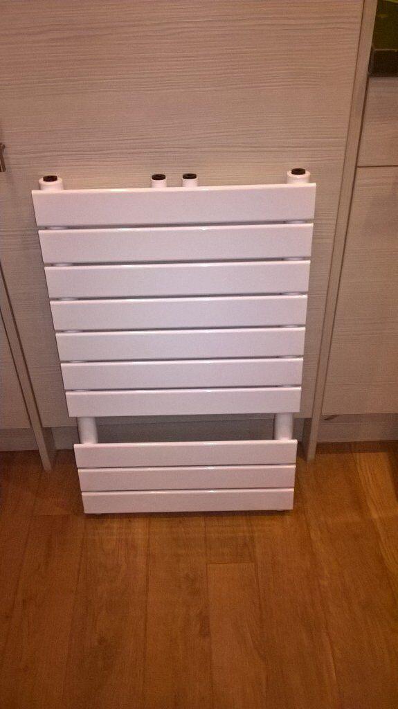 brand new white towel radiator