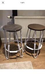 Hairpin stools pair