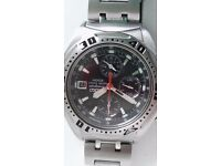 SEIKO alarm chronograph mens watch stunning item