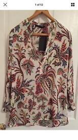 Zara Shirt Top Women's Size Large