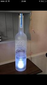 Empty belvedere bottle