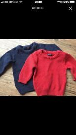 Baby boy knit jumpers 6-9 months next