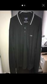 Armani Jeans long sleeve polo
